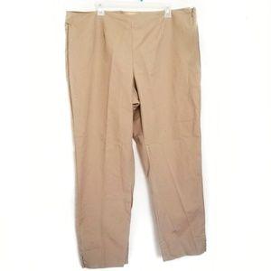 Ellen Tracy tan beige pants slacks ankle plus 16W
